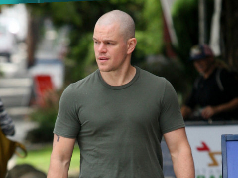 Bald Matt Damon – Rockin the Shaved Head Proudly [Photos]