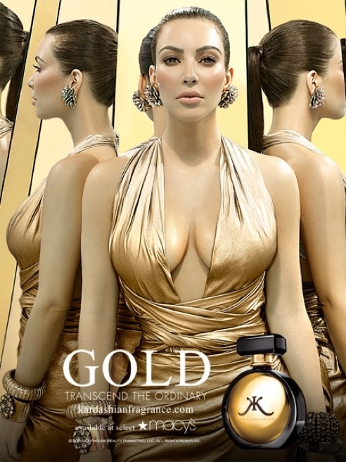 Kim Kardashian's New Fragrance Ad Released and it's Golden!