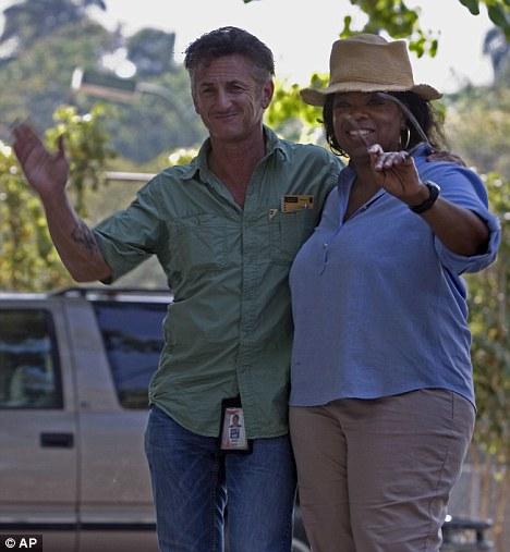 Oprah Visits Senn Penn in Haiti for her New Show