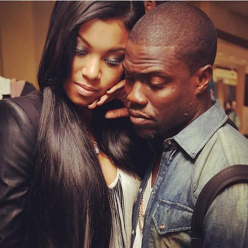 "Kevin Hart and His Girlfriend Eniko at the ""Think Like A Man Premiere"""