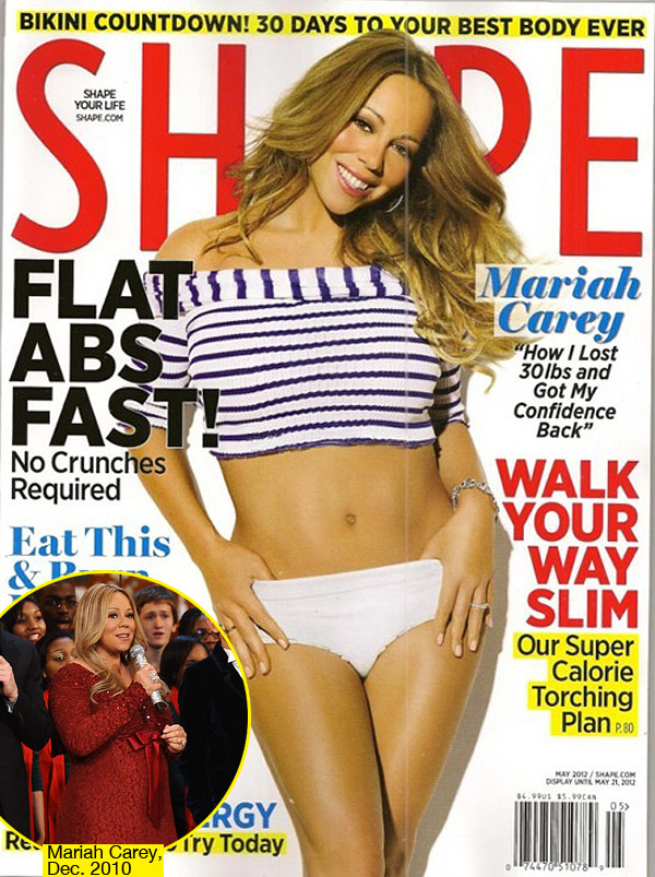 Mariah Carey's Shape Cover and Weight Loss, A Result of Hard Work or Wealth?