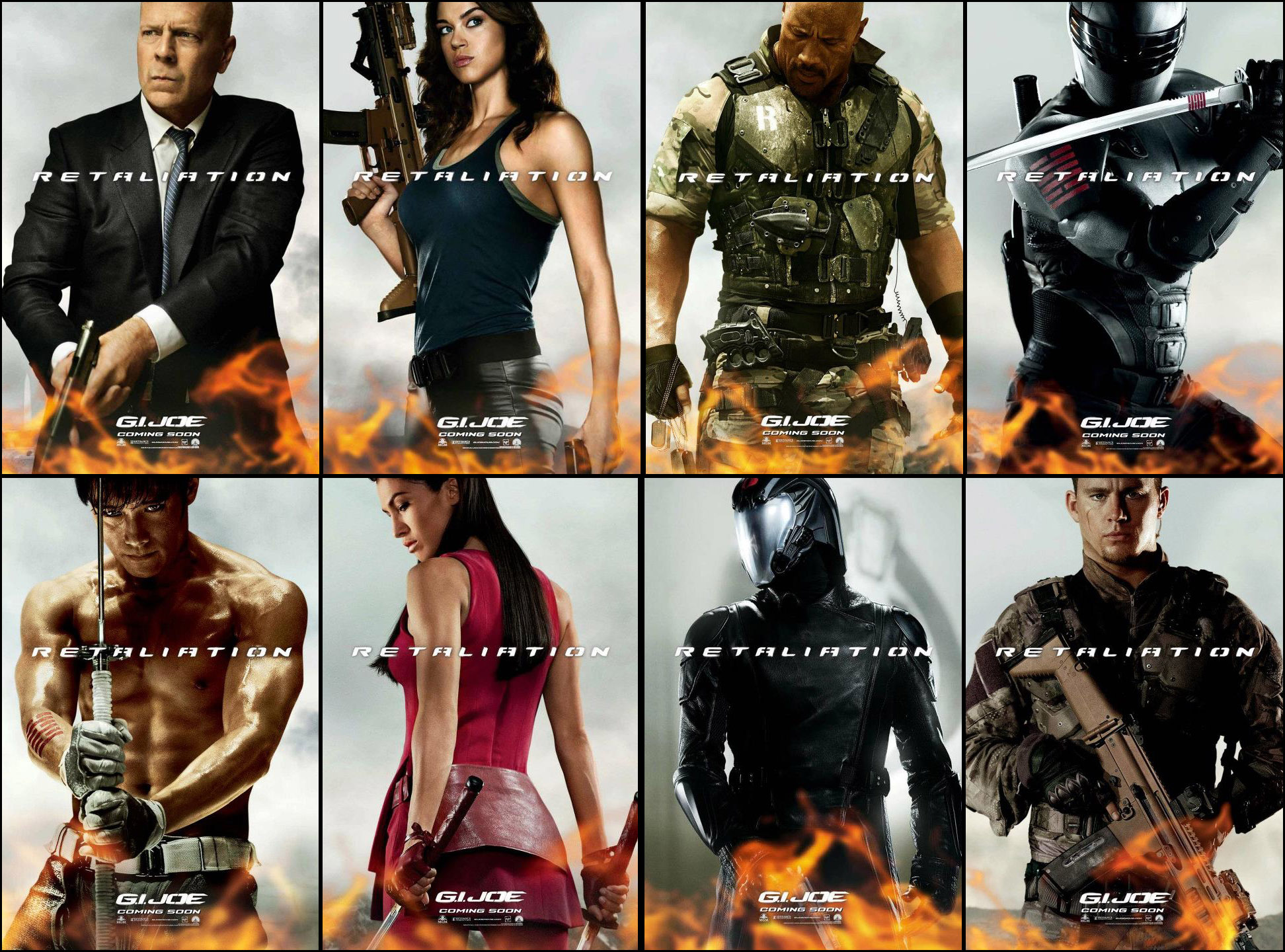 Paramount Releases 7 Character Banners Providing Evidence that G.I. Joe Retaliation will be One Bad Ass Movie.