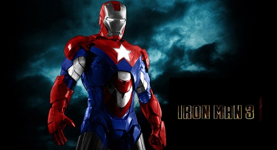 There has been an official Iron Patriot Sighting on the Set of Iron Man 3.