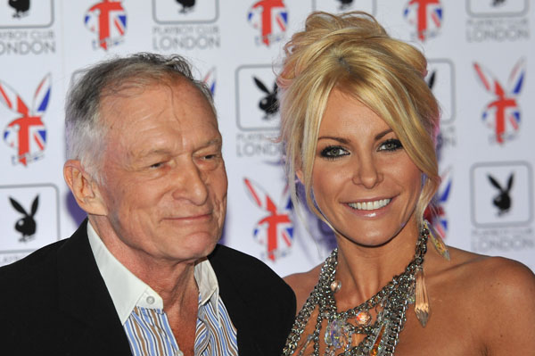 Hugh Hefner and Crystal Harris are Back.  Hef Welcomes the Runaway Brideback into the Mansion!