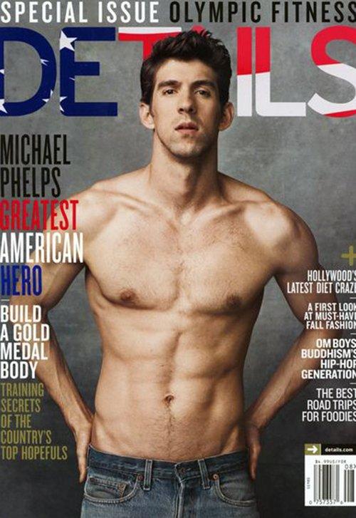 Shirtless Michael Phelps Bares More then Just his Man Chest in This Month's Details Magazine