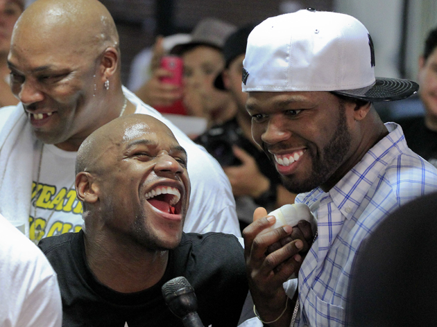 50 Cent has Teamed with Floyd Mayweather To Take Over Boxing, Attack De La Hoya on Twitter