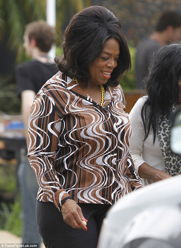 Oprah on the set of The butler