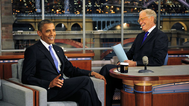 Barack Obama's Appearance On Letterman Capitalizes on Romney's Latest Gaffe.