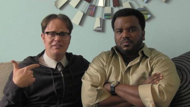 "Rainn Wilson and Craig Robinson Spoof Angus T Jones Rant To Promote Their Show ""The Office""."