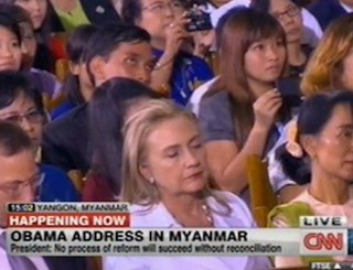 Hillary Clinton Gets some Rest, Unfortunately the POTUS was Speaking. [Video]