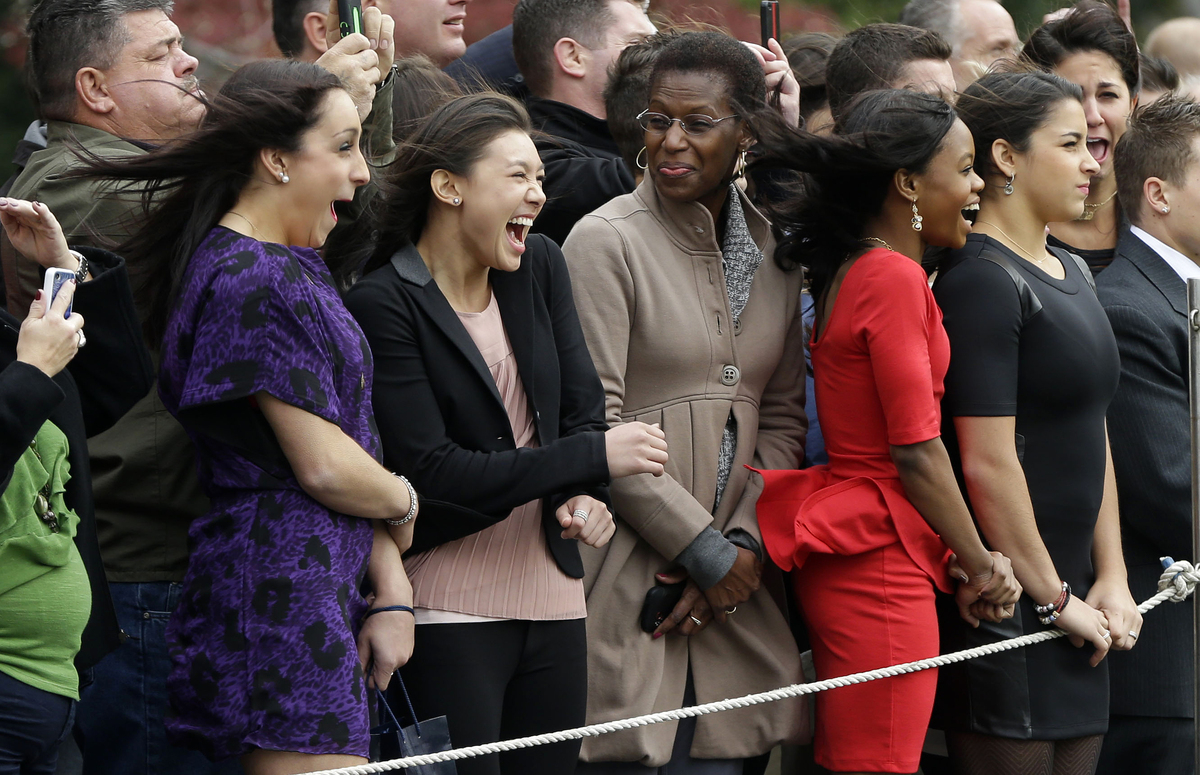 "The Fierce Five Visit President Obama and another ""Not Impressed"" Meme Goes Viral"