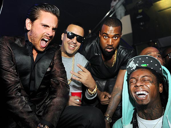Scott Disick Tries to Ball-Out with Kanye, Lil Wayne and Diddy….Until He Gets the Bill!  Yikes!