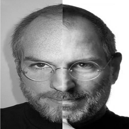 Ashton Kutcher Tweets Out Split Photo of He and Steve Jobs – The Resemblance is Eerie!