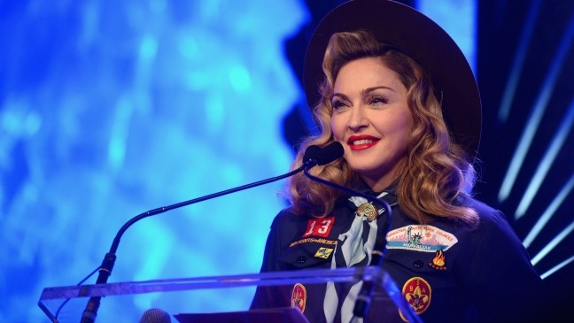 Madonna Rocks a Cub Scouts Uniform & Smooches Anderson Cooper All in Support of Gay Rights