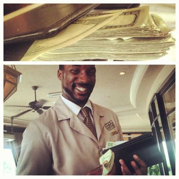 The Game Shamelessly Gives himself Props for tipping waiter $6,000.