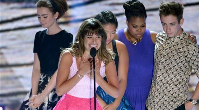Lea Michele's Tearful Acceptance Speech At Teen Choice Awards