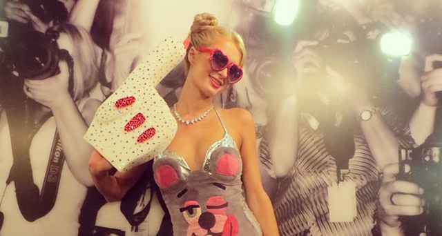 Paris Hilton Attends Party At Playboy Mansion Wearing The Worst Halloween Costume Ever