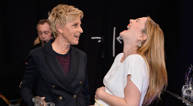 Ellen DeGeneres Calls Pregnant Drew Barrymore Fat