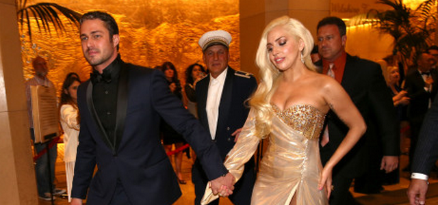 """Lady Gaga Looks """"Normal"""" With Her Boyfriend At Golden Globes After-Party"""