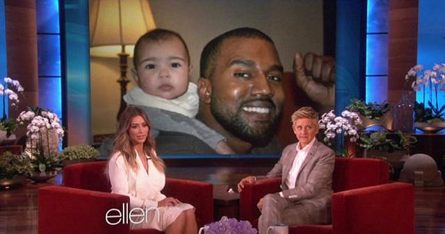 Kim Kardashian Shares Two New Adorable Photos Of North West On 'Ellen'