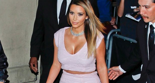 Kim Kardashian Shows Off Major Cleavage On Jimmy Kimmel Live, Opens Up About Wedding Plans With Kanye West