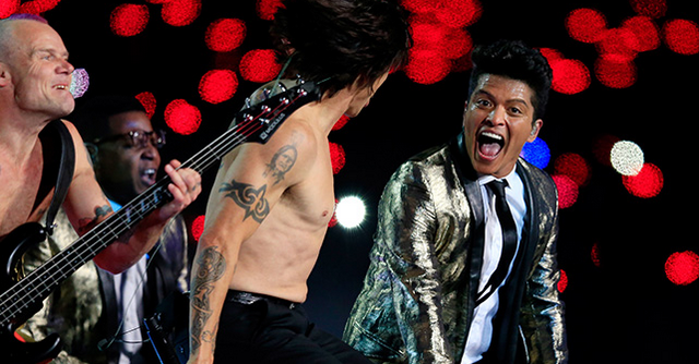 Bruno Mars & Red Hot Chili Peppers Put On Entertaining Super Bowl Halftime Show (VIDEO)