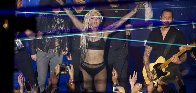 Lady Gaga Gets Puked On While Performing On Stage At SXSW (VIDEO)