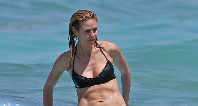 Heidi Klum Eats French Fries While Wearing Bikini On The Beach (PHOTOS)