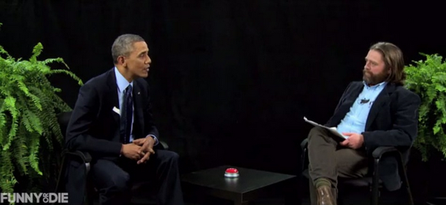 "Zach Galifianakis Interviews President Obama In ""Between Two Ferns"" Skit (VIDEO)"