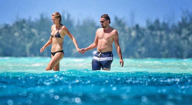 Leonardo DiCaprio Shows Off Weight Gain And Hot Supermodel Girlfriend At The Beach