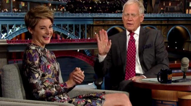 Shailene Woodley Tries To Convince David Letterman That Eating Clay Is Good For The Body (VIDEO)