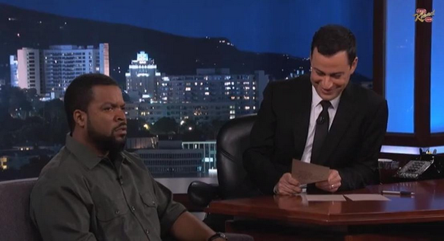 Jimmy Kimmel Has Ice Cube Saying Nice Things In The Meanest Way Possible (VIDEO)