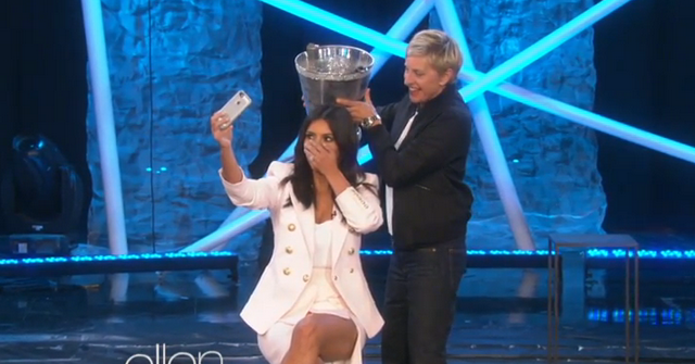 Kim Kardashian Ruins ALS Ice Bucket Challenge On 'The Ellen DeGeneres Show' (VIDEO)