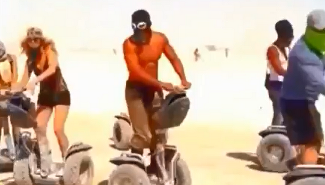 The Video You All Have Been Waiting For: Will Smith Dancing On A Segway At Burning Man