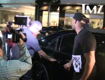Watch what Diddy Does the moment Paparazzi Scratches his Maybach while he is standing right There (Video)