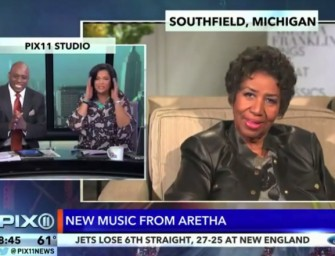 Watch Aretha Franklin Strugglin' to get through Promo Interviews for her New Album (Video)