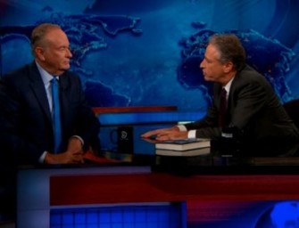 """Bill O'Reilly and Jon Stewart have another Classic Battle, this time over """"White Privilege""""."""