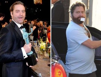 Slimmed-down Zach Galifianakis Steals The Show At 2015 SAG Awards, Trades In Beard For Man Bun
