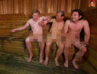 Watch: Conan O'Brien And The Walking Dead's Steven Yeun Take Naked Trip To Korean Spa