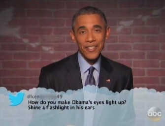 WATCH: President Obama Reads Mean Tweets on Jimmy Kimmel and It's Hilarious! (Video)