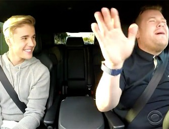 WATCH: Justin Bieber Pretends To Be A Lovable Human Being While Singing With James Corden