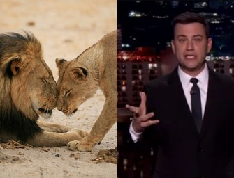 Must Watch: Jimmy Kimmel Gets Emotional While Talking About The Murder Of Cecil the Lion