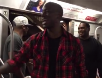 Watch: Tyrese Gibson Hits the NYC Subway to Personally Promote his Latest Album, Then This happened… (Video)