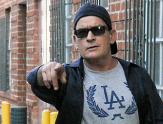 Charlie Sheen Is A Mess, Bouncer Puts Him In A Headlock And Throws Him Out Of Bar (VIDEO)