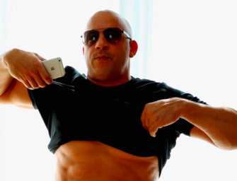 "Vin Diesel Says ""Body-Shaming"" Is Always Wrong, Posts Photo Revealing His Rock-Hard Abs!"