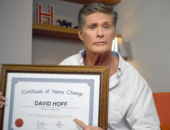 """David Hasselhoff Just Slashed His Last Name In Half…Legally!? Watch Him Explain In """"Goodbye"""" Video!"""