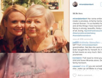 Miranda Lambert gets Instagram backlash for grandma's gift