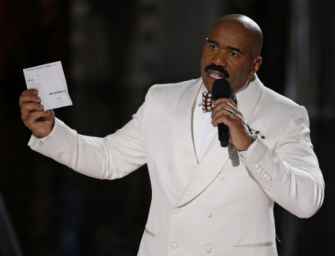 Watch: The Most Awkward Moment Of The Year, Steve Harvey Makes Huge Mistake During Miss Universe 2015!