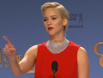 After Winning 'Best Actress' At 2016 Golden Globes, Jennifer Lawrence Shares An Awkward/Rude Moment With Reporter (VIDEO)
