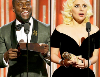 Hear How Kevin Hart Saved Lady Gaga's Life At The 2016 Golden Globes! (VIDEO)